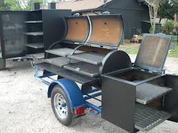 Bbq Smoker Design Plans Trailer Pit Like The Grill Above The Fire Box Bbq