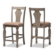 fabric upholstered counter height chairs. baxton studio arianna shabby chic country cottage weathered grey finishing wood and \ fabric upholstered counter height chairs c