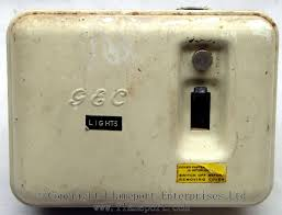 gec metal way fusebox old gec 3 way metal fusebox switch off
