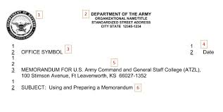 Army Memorandum Writing | Joining The Army Hq