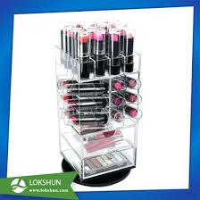 rotating lipstick tower holder organizer acrylic cosmetic makeup storage pictures photos sorbus display case set china