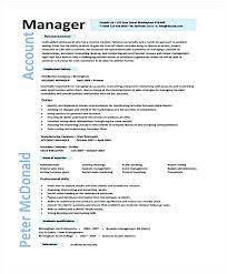 Sample Account Manager Resume – Joggnature