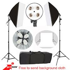 photography softbox light continuous lighting kit photo equipment soft photo portrait studio pvc1 6 2m background 4 lamp holder in photo studio accessories