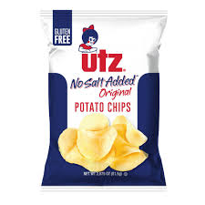 Instant mashed potatoes are potatoes that have been through an industrial process of cooking, mashing and dehydrating to yield a packaged convenience food that can be reconstituted by adding hot water or milk, producing an approximation of mashed potatoes. Utz Potato Chips Original No Salt Added Utz Quality Foods