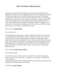 Types Of Essays And Examples Example Essay Types Examples Sample