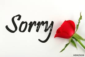 Sorry With Red Rose Stock Photo And Royaltyfree Images On Fotolia Adorable Sorry Image Download
