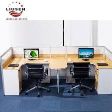 double office desk. Guangzhou Wholesale Wood Modular Office Furniture Desk Staff Double Card Slots