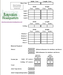 green board sheetrock calculator