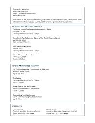 Volunteer Work Resume Examples 10 Volunteer Information On Resume Payment Format