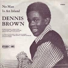 dennis brown s dub lp album discography page  no man is an island lp cover