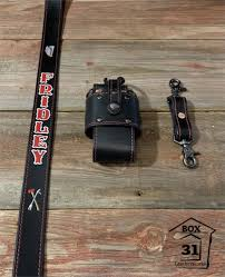 custom leather radio strap combo