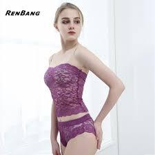 plus size tube tops renbang ladies sexy tube top briefs lace lingerie set plus size