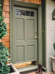 Image Forest Green Olive Green With Red Brick Homebnc 30 Best Front Door Color Ideas And Designs For 2019