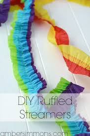 diy ruffled streamers tutorial by amber simmons of ambersimmons com these easy handmade party