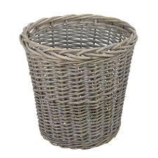 buy john lewis wicker wastepaper bin grey wash  john lewis