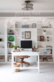 desk for home office ikea. Ikea Home Office Desks. Makeover Reveal | IKEA Hack Built-in Billy Bookcases Desk For K