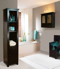 wood bathroom towel cabinet