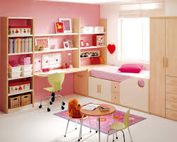 Kids Bed With Bookshelf Girls Bedroom Cool Picture Of Pink Teenage Bedroom Decoration