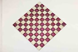 popular square art pattern purple crystal glass mosaic tile for building wall decoration