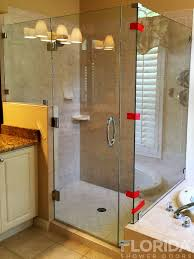 3 8 frameless glass to glass with glass to wall hinge shower enclosure with 3 panels