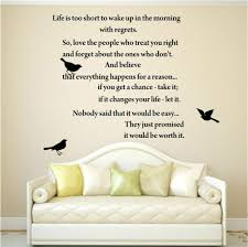 life is too short inspirational poems wall art quote decal vinyl on love you still master