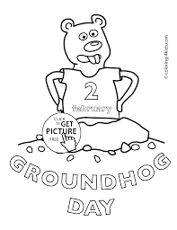 Small Picture Happy Groundhog Day Coloring Pages For Kids 2 February Printable