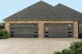 Modern garage door Canyon Ridge Modern Garage Door With Wood Slats Garagewownowcom Blog Modern Garage Doors