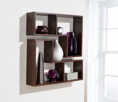 decorative full wall shelving units