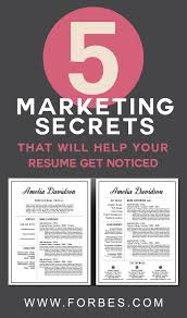 The Muse Resume Templates 100 Marketing Secrets That Will Help Your Resume Get Noticed 28