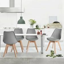 246 Grau Küchenstuhl Skandinavisch Esszimmerstuhl