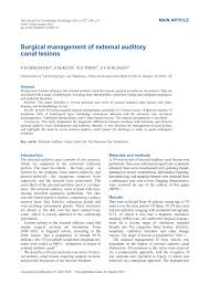 Ssm Doctors Note Pdf Surgical Management Of External Auditory Canal Lesions