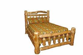 Rustic Pine Log – QUEEN SIZE – Double Rail Complete Bed Frame – Amish Made | eBay