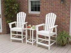 polywood south beach recycled plastic counter patio dining set by polywood 83997 polywood polywood art deco outdoor furniture