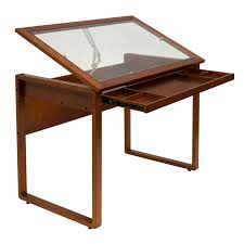 Wood desk with glass top Reception Desk Transaction Details About Studio Designs Wooden Glass Top Ponderosa Home Or Office Drafting Desk Brown Plant Jotter Studio Designs Wooden Glass Top Ponderosa Home Or Office Drafting