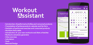 Exercise Chart App App 4 1 Material Design Workout Assista Android