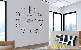 large office wall clocks. mq005 mirror analog diy 3d large number wall clock sticker decor for home office clocks c