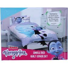 disney vampirina quilt cover set purple