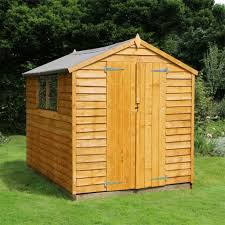 flash reduction 8 x 6 overlap value apex wooden garden shed with
