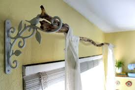 diy curtain rod holders bring nature in as home decor diy curtain rod hangers diy wood