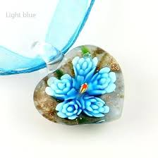 glass necklaces pendants whole top er heart flower inside blown glass necklaces pendants fashion jewelry