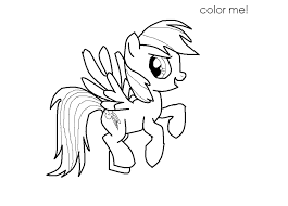 Rainbow Dash Coloring Pages To Print