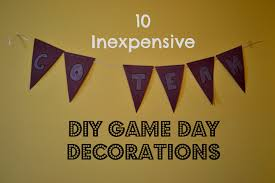Homemade Super Bowl Decorations MoneySaving DIY Game Day Decorations Behind the Blue 12