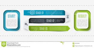 Modern Infographic Process Description From Start To Result 3