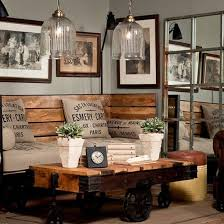 Nice Cream Home Wall Industrial Decoration That Has Siding Wall Industrial Rustic Living Room