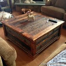 reclaimed wood coffee table zinc strap square diy top