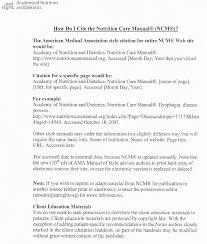How Do I Cite The Nutrition Care Manual Ncm Kent State Interns