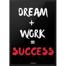 Success Formula Typography Poster Dream Work = Success Custom Inspirational Success Pics Download