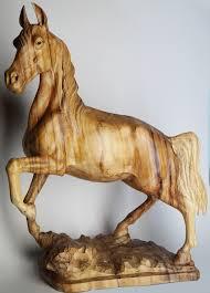 wooden horse 60 cm sculpture statuette