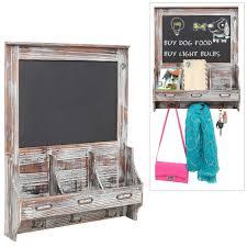 Wall Mounted Mail Sorter / Organizer Chalkboard - Rustic Dark Brown