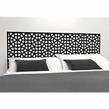 moroccan pattern headboard decal geometric pattern vinyl wall sticker removable bedroom decor inspired on